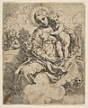 Madonna and Child seated on clouds and surrounded by angels MET DP815220.jpg