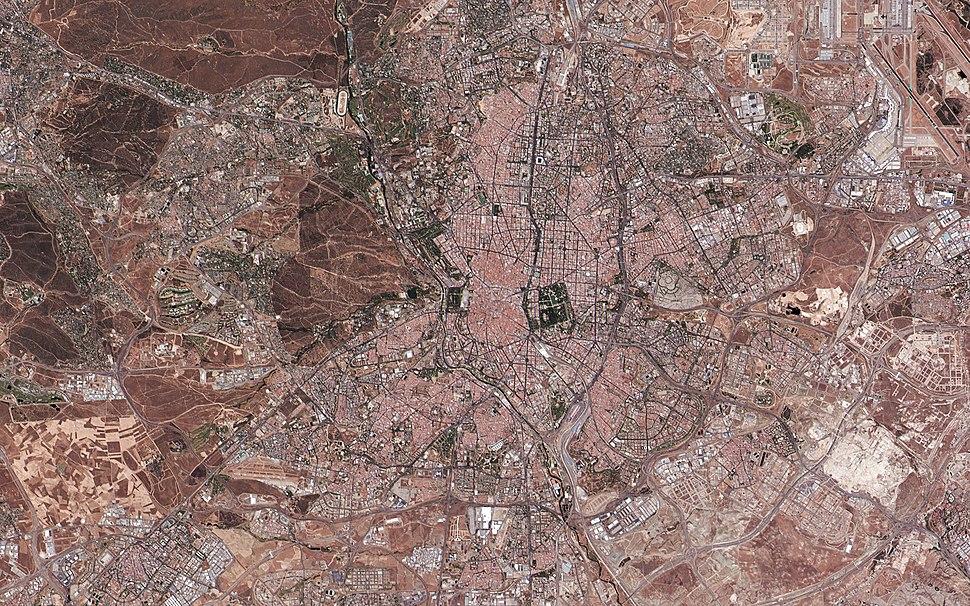 Madrid, Spain (satellite view)