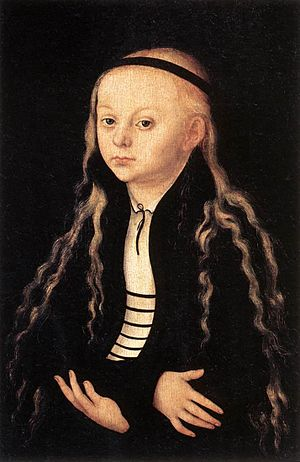 Magdalena Luther - A painting by Lucas Cranach the Elder