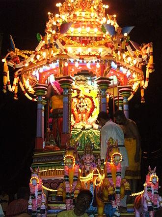 Sri Mahamariamman Temple, Penang - Chariot procession of Lord Subramaniyaswami for Chithra Pournami festival