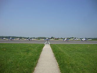 Oxford Airport - The Main Apron, used by Oxford Aviation Academy.