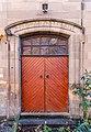 Main door to Langside Synagogue, Glasgow, Scotland.jpg