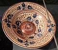 Maiolica ispano-moresca, piatto a lustro, xvii secolo ca.jpg