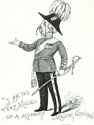 Major-General's Song - Drawing from 1884 children's Pirates