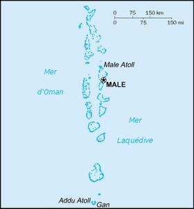 carte des iles maldives - Photo
