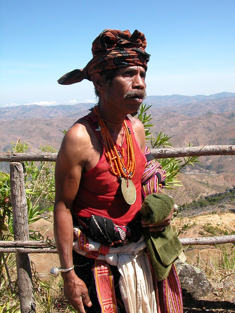 Man in traditional dress, East Timor
