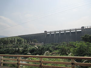Manimuthar River - The image of spillway of Manimuthar anicut
