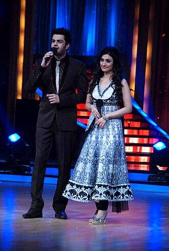 Manish Paul - Maniesh Paul and Ragini Khanna hosting Jhalak Dikhhla Jaa 5, 2012.