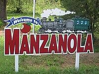 Manzanola, CO, welcome sign IMG 5645.JPG