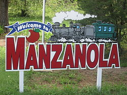 Manzanola welcome sign