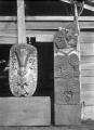 Maori wooden carvings at Te Whai-a-te Motu, Mataatua ATLIB 257318.png