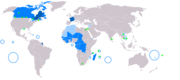France's legacy: a map of the Francophone world native language administrative language secondary or non-official language francophone minorities