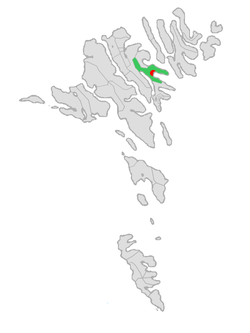 Location of Eystur Municipality