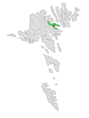Eystur Municipality - Image: Map position eysturkommuna 2009