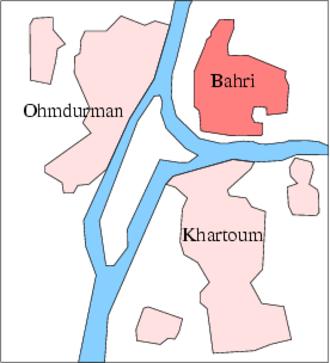 Khartoum North - Location of Khartoum North