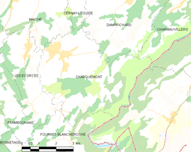 Mapa obce Charquemont
