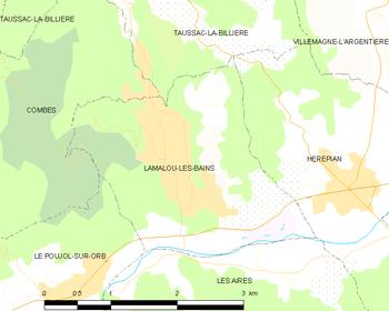 lamalou les bains carte Lamalou les Bains   Wikipedia