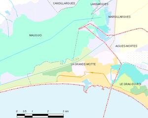 La Grande-Motte - Map