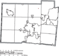 Map of Butler County Ohio Highlighting Jacksonburg Village.png