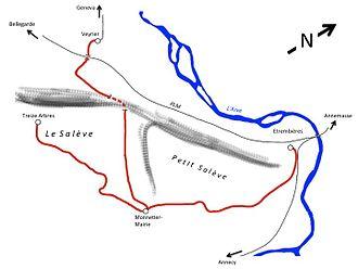 Chemin de fer du Salève - Map of CFS lines