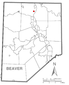 Map of Homewood, Beaver County, Pennsylvania Highlighted.png