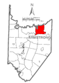 Map of Mahoning Township, Armstrong County, Pennsylvania Highlighted.png