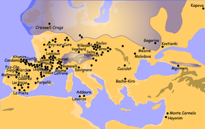 Origin of the Basques - Distribution of Paleolithic settlements in Europe.