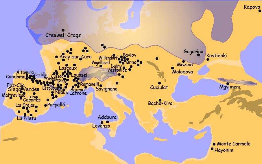 Map of Palaeolithic Art