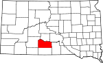 State map highlighting Mellette County