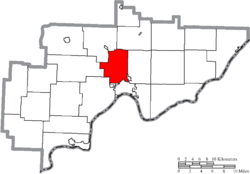 Location of Muskingum Township in Washington County