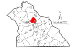 Map of York County, Pennsylvania Highlighting Manchester Township.PNG