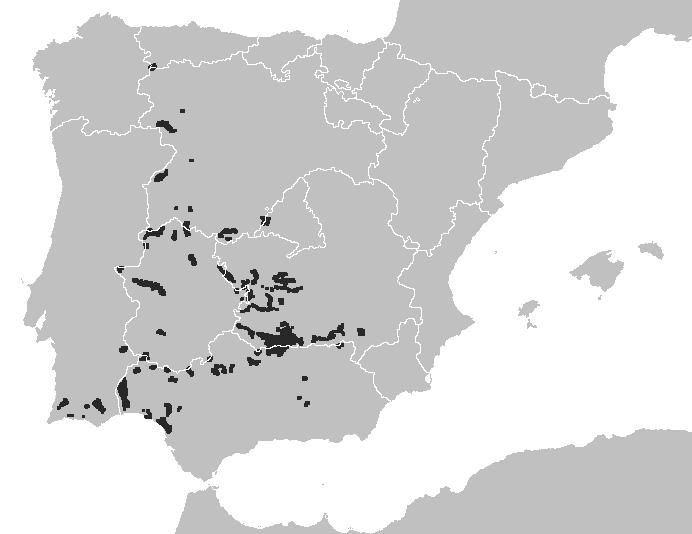 Mapa distribuicao lynx pardinus defasado