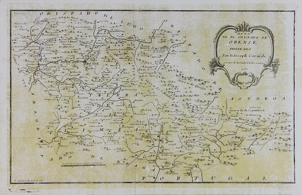 Mapa do bispado de Ourense de Cornide (1763)