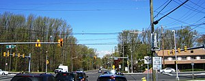 Maple Meade, New Jersey - Maple Meade from westbound Adams Lane at US 130