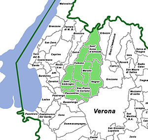 Map of Valpolicella Italiano: Mappa della Valp...