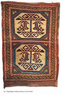 left image phoenix and dragon carpet 164 x 91 cm anatolia circa pergamon museum berlin right image animal carpet around found in marby