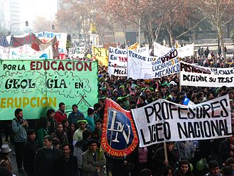 2011–13 Chilean student protests - Protest march in Santiago, 14 July 2011