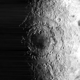 Mare Orientale Lunar mare on the western border of the near side and far side of the Moon