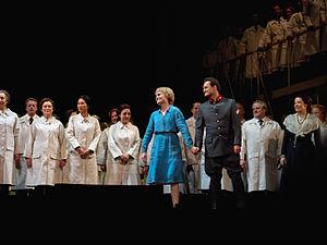 Russell Braun - Marina Poplavskaya and Russell Braun in Gounod's Faust, Metropolitan Opera House, 2011