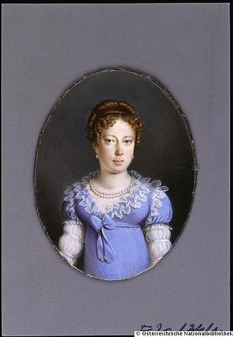 Maria Leopoldina of Austria - Leopoldina in her youth, 1800s