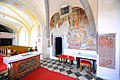 Maria Saal Poertschach am Berg Pfarrkirche Heiliger Lambert gotische Wandmalerei Turmquadrat 23092010 266.jpg
