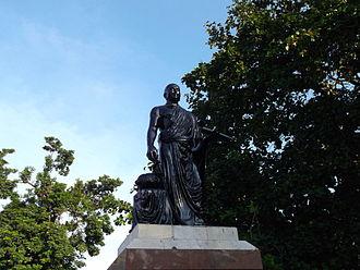 Ilango Adigal - Statue of Ilango Adigal at Marina Beach, Chennai