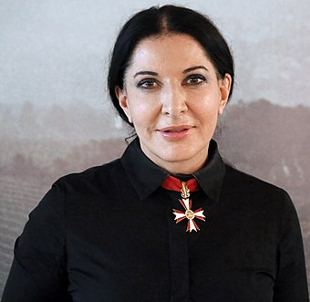 Marina Abramovic, one of the world's leading performance artists Marina Abramovic - The Artist Is Present - Viennale 2012 (cropped).jpg
