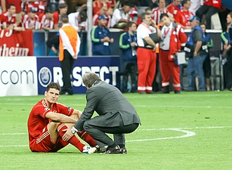 Mario Gómez - Gómez after Bayern Munich's defeat against Chelsea in the 2012 UEFA Champions League Final