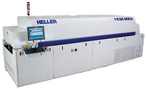 Reflow soldering - An example of a commercial reflow oven.