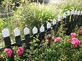 Marken omheining en bloemen.JPG