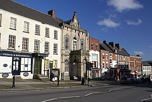 Ashbourne, Derbyshire - Image: Market Hall, Ashbourne geograph.org.uk 335763