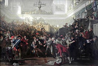 Fall of Maximilien Robespierre The coup detat of 27 July 1794 (9 Thermidor II) which deposed Robespierre.