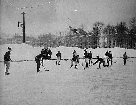 Hockey at McGill University, Montreal, 1901 McGill hockey match.jpg