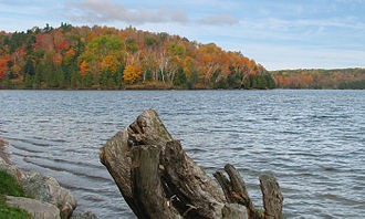 """Meech Lake Accord - """"Meech Lake is one of about two million lakes in Canada.  However pleasant, the attention it has attracted ... is far out of proportion to its size, beauty, or history."""" - Andrew Cohen"""